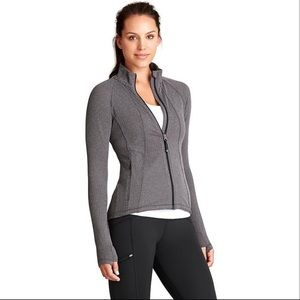 Athleta Hope Herringbone Zip Jacket Thumbholes M